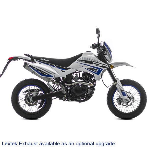 Lexmoto Adrenaline 125 White-Blue (Lextek Exhaust)