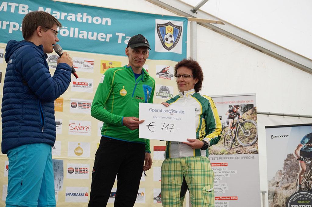 MTB Naturpark Marathon Pöllau 2016 - Spendenübergabe