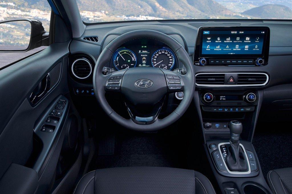 Hyundai KONA hybrid interiør