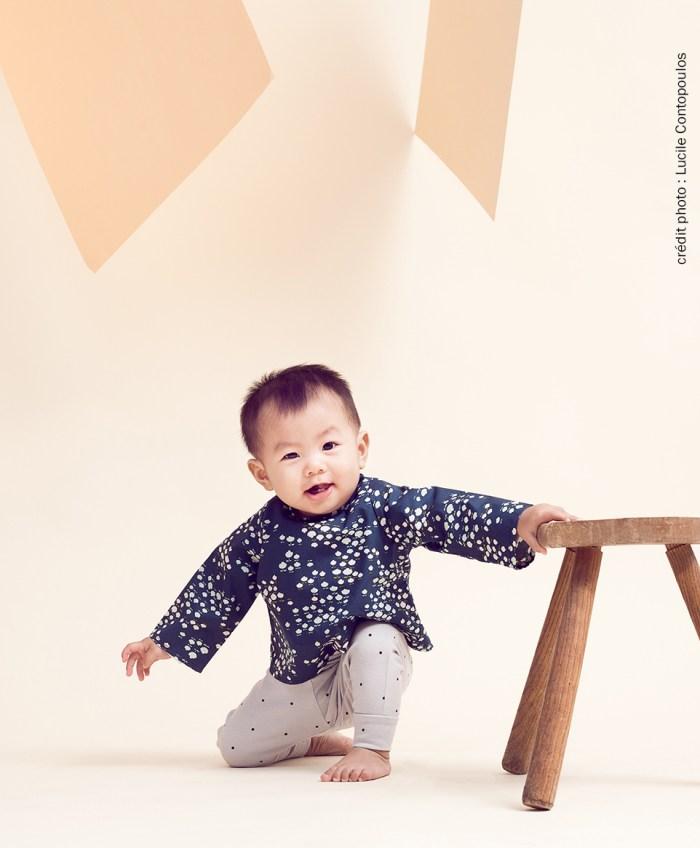 vetement bebe lyon france createur garcon blouse pantalon salopette bio