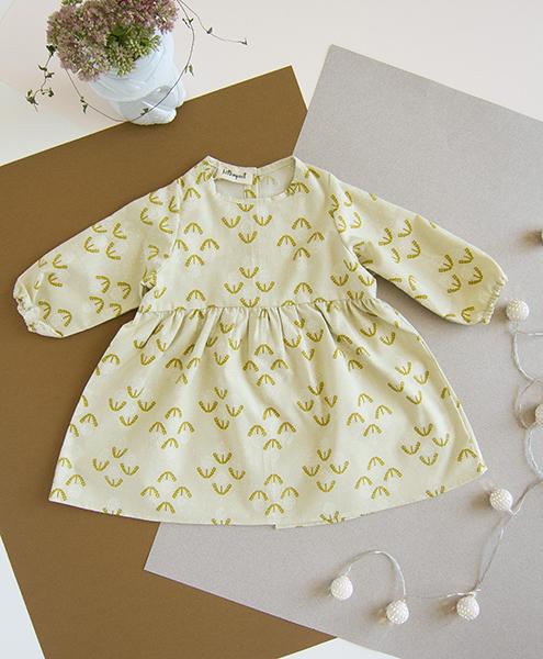 bio robe bebe fille jaune coton biologique fleur cadeau naissance enfant vetement lyon