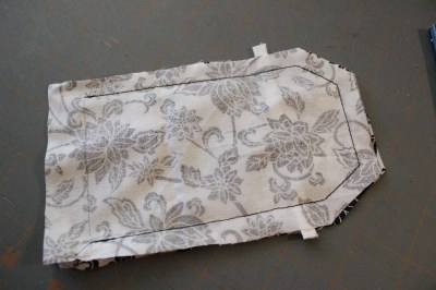 Sew around the top edge leave the bottom open