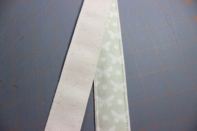 sew the handles with a small seam