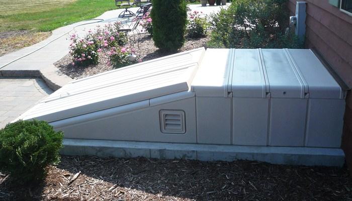 Bilko Doors Ultra Series Polyethylene Construction | Bilco Precast Basement Stairs | Walkout Basement | Egress | Basement Entry | Precast Concrete Steps | Basement Entrance