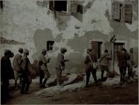 Italienische Kriegsgefangene am 8.8.1916