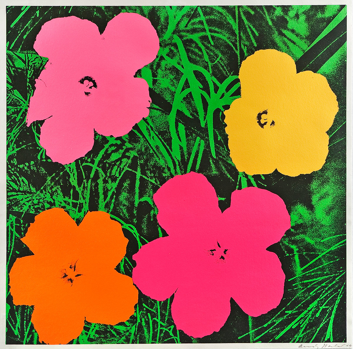 Andy Warhol  Flowers  Lithographie  Jahr 1964  55 x