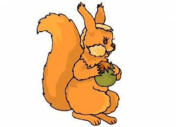 Eichhörnchen Ausmalbilder