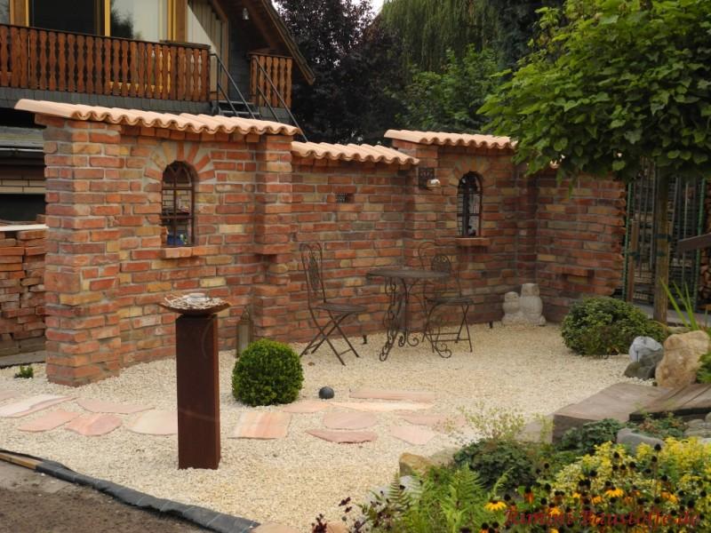 Mediterrane Gartenmauer Mit Fenster  mksurfclub