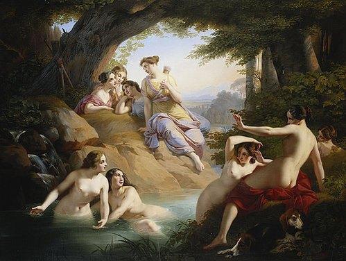 Diana und Nymphen beim Bade von Paul Emil Jacobs