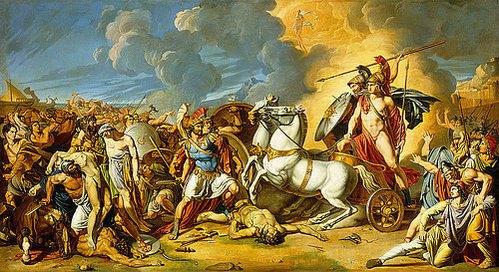 Szene aus dem Trojanischen Krieg von Antonio Rafaelle
