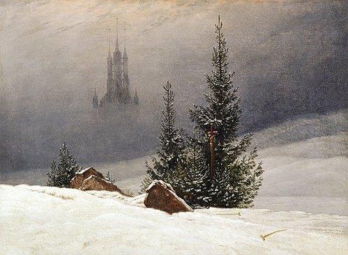 Winterlandschaft mit Kirche von Caspar David Friedrich