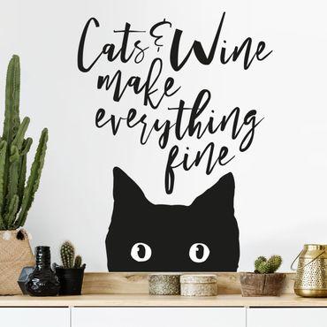 Adesivi murali con i gatti perché se il cane è miglior amico dell'uomo, anche il gatto non scherza! Adesivi Murali Gatti Scopri Online Su Bilderwelten It