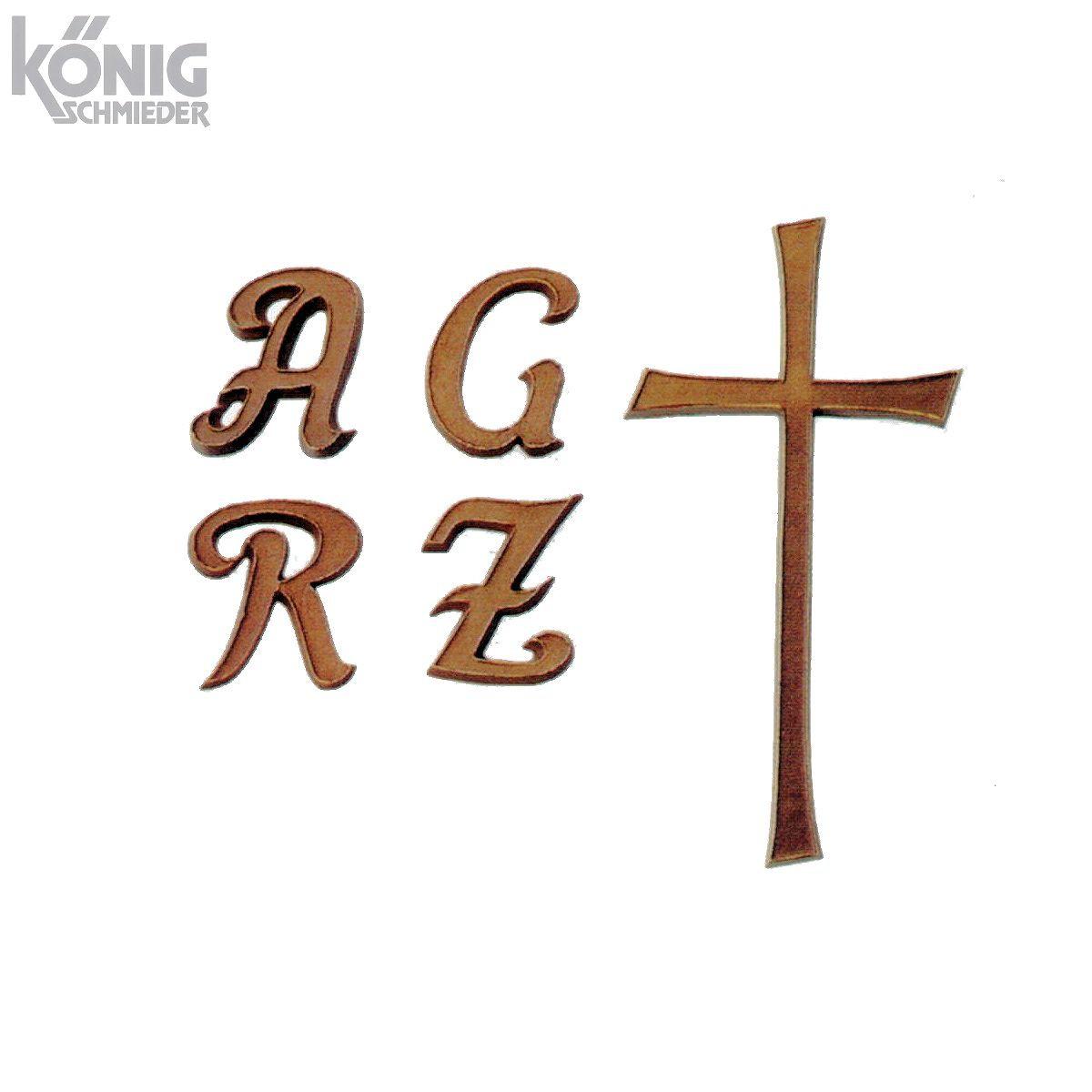 Buchstaben Für Grabsteine Aus Bronze Und Aluminium Typ Cursiva