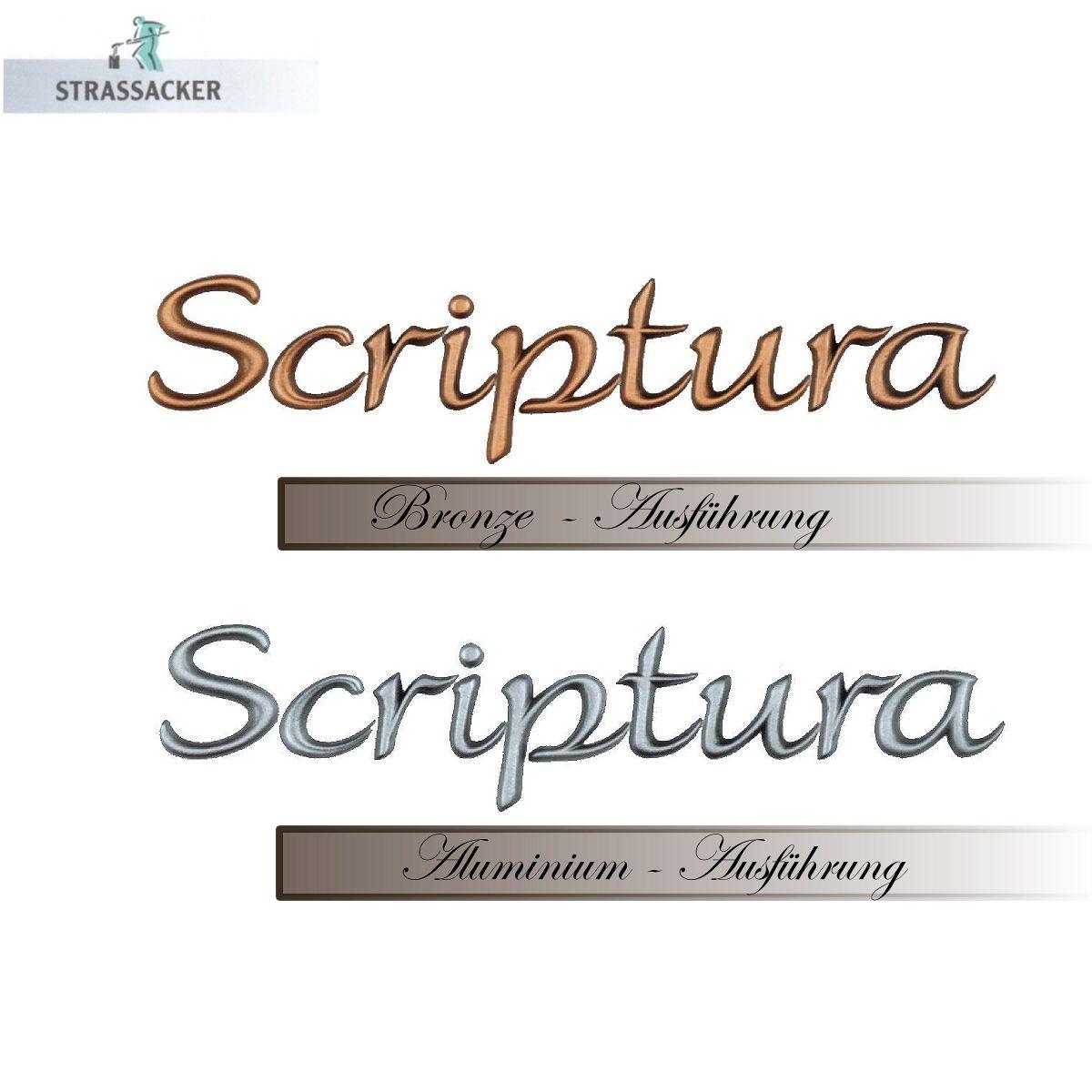 Buchstaben Für Grabsteine Typ Scriptura, Bronzebuchstaben Und