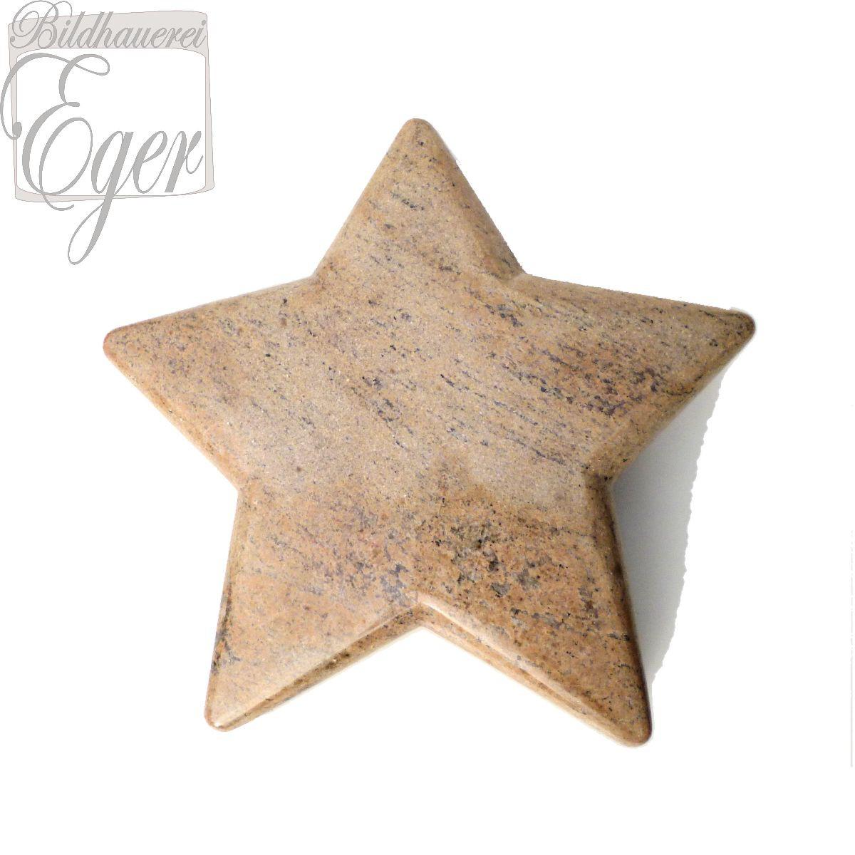 Kindergrabstein Stern Aus Hellbraunem Granit Für Ein Sternenkind