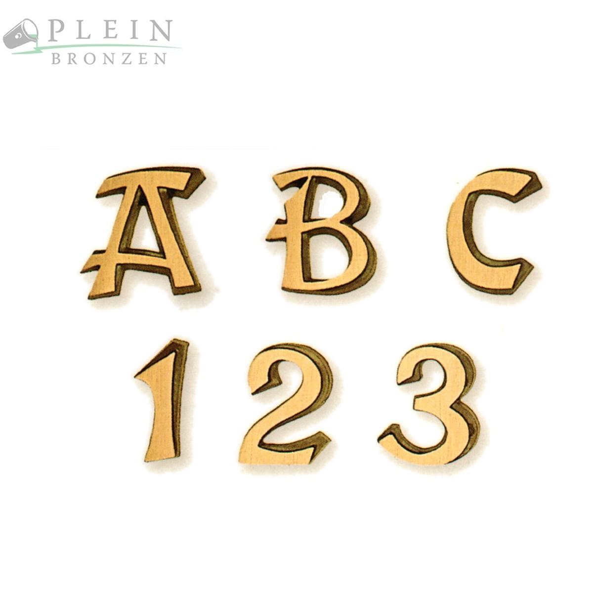 Buchstaben Für Grabsteine Aus Bronze Und Aluminium Typ Georg 1030
