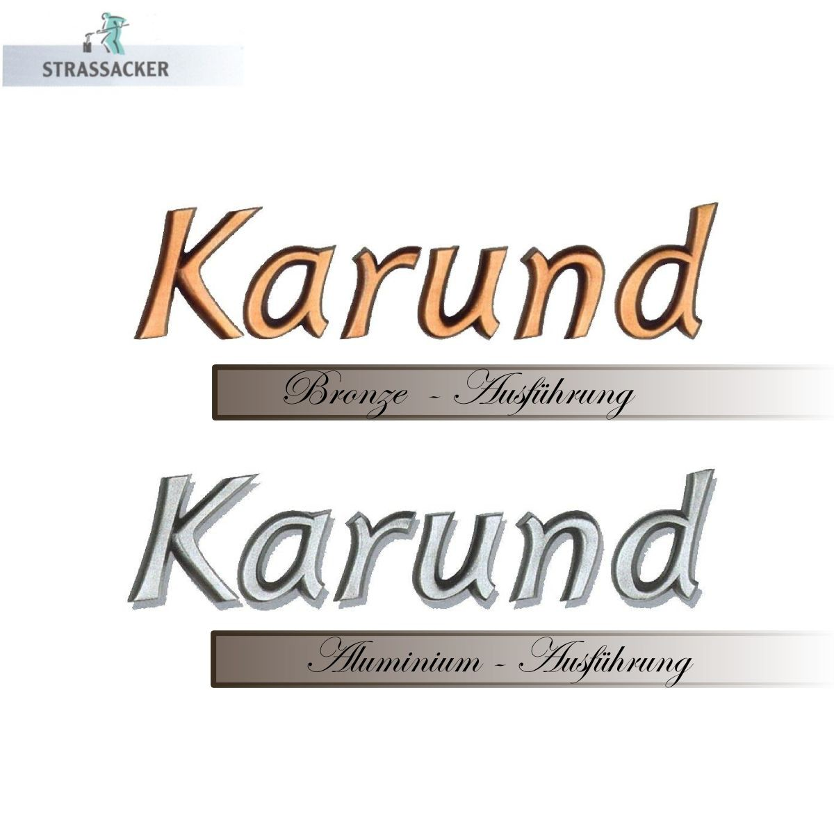 Buchstaben Für Grabsteine Typ Karund, Bronzebuchstaben Und