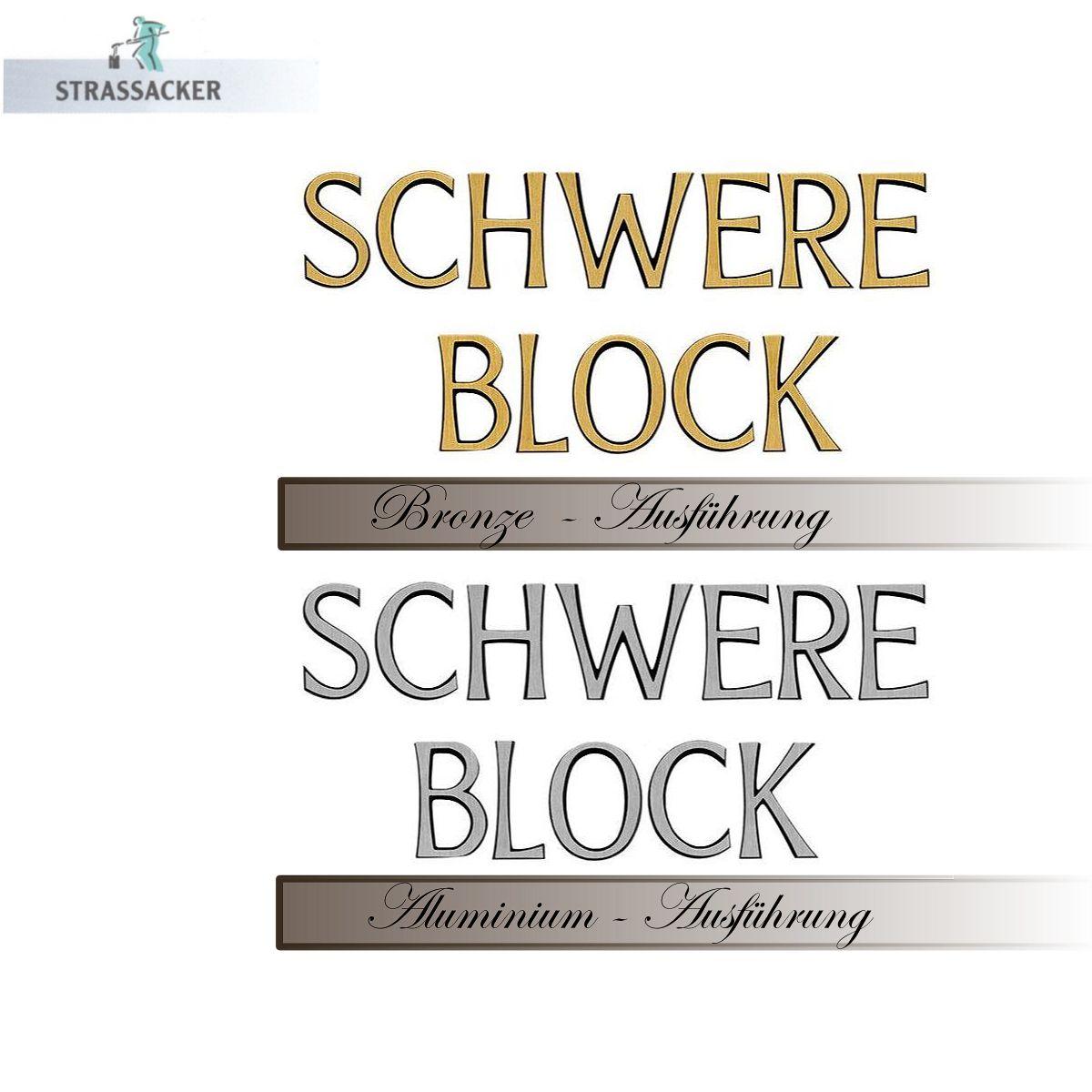 Bronzebuchstaben Für Einen Grabstein, Typ Schwere Block