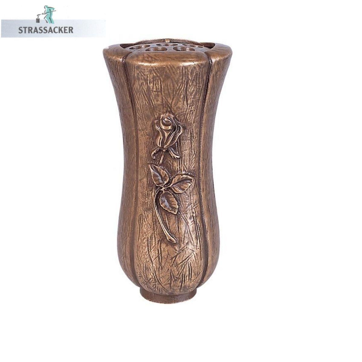 Grabvase Aus Bronze 17 | Grabvasen | Grabschmuck | Bronzebuchstaben