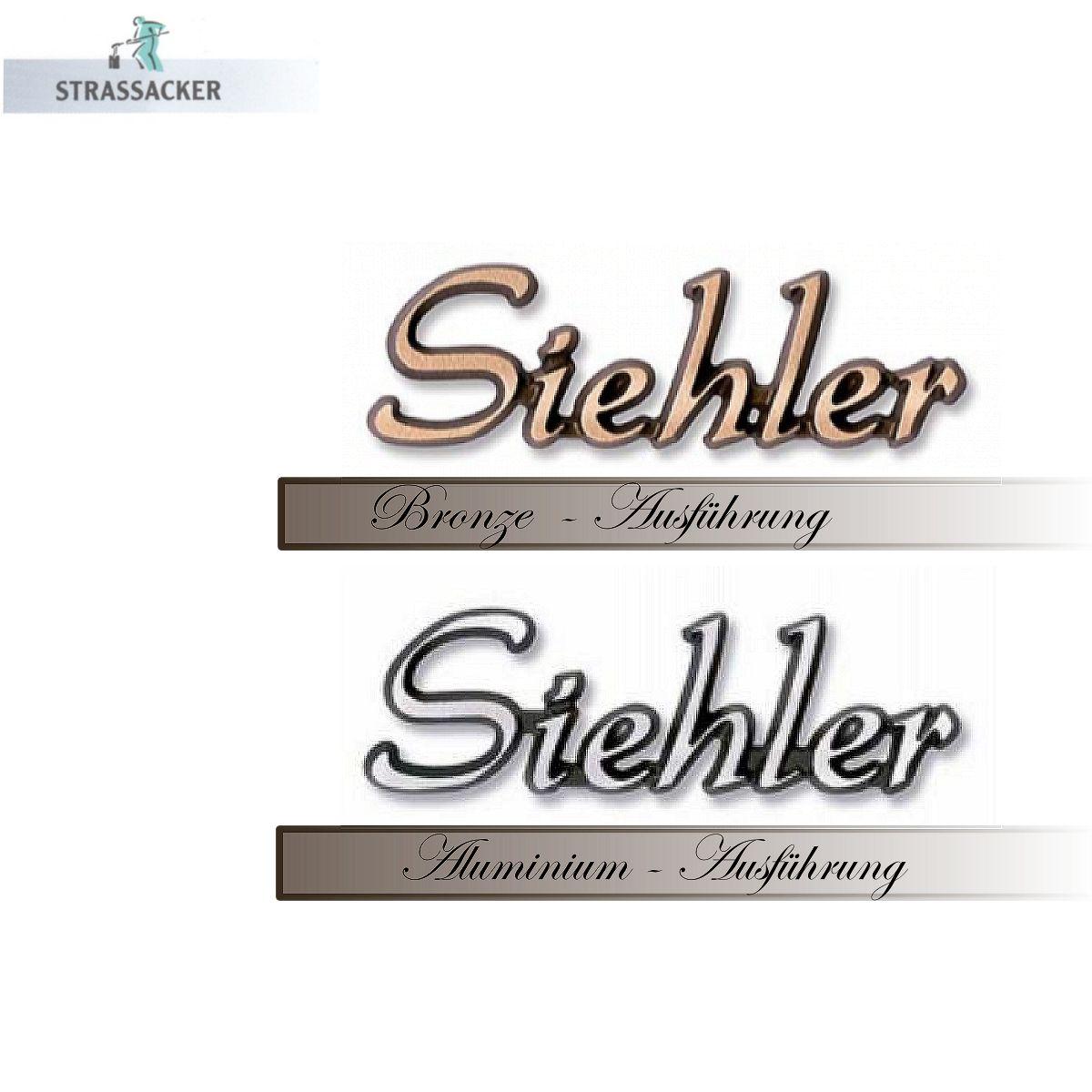 Bronzeschriftzug Für Grabsteine Typ Siehler | Bronzebuchstaben