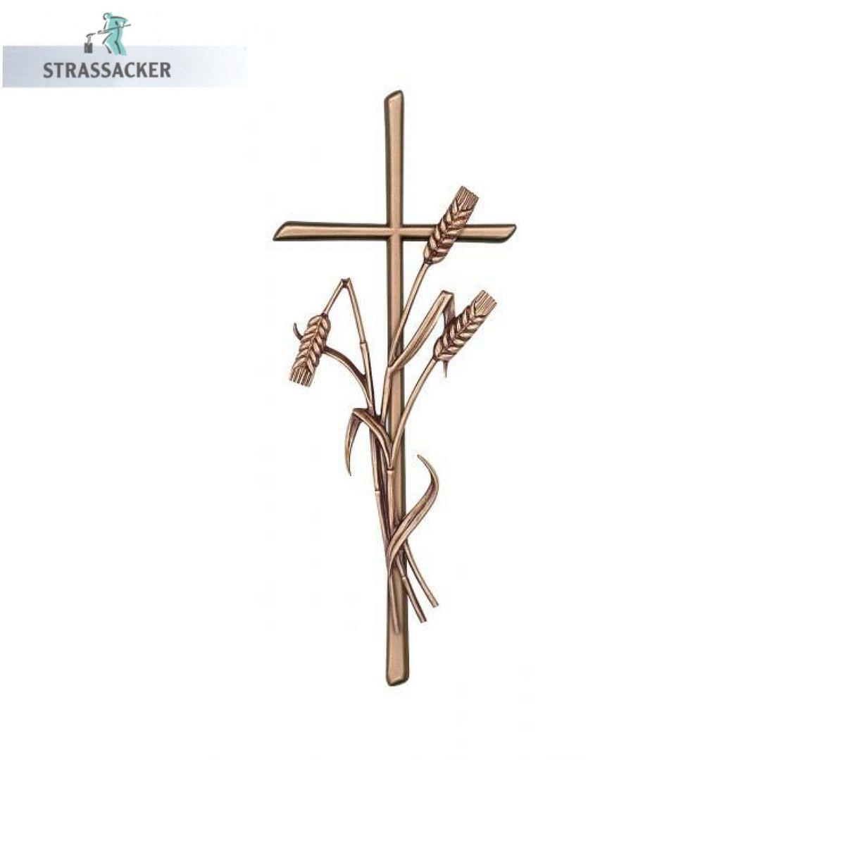 Grabsteinkreuz Mit Kornähren Scriptura Aus Bronze, Aluminium Oder