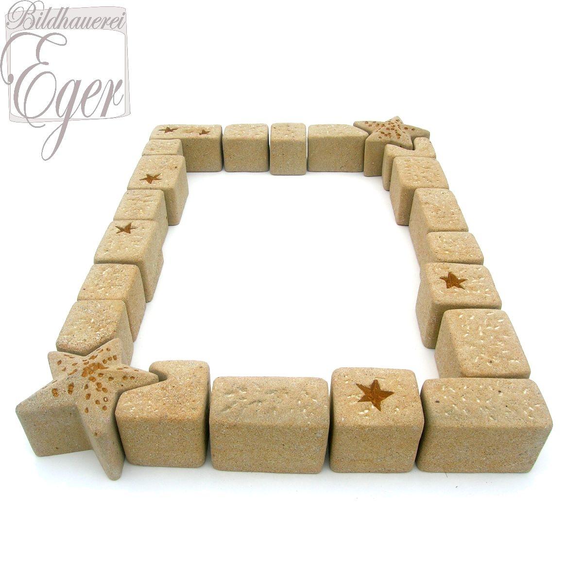 Grabeinfassung Mit Sternen Für Ein Kindergrab | Bronzebuchstaben