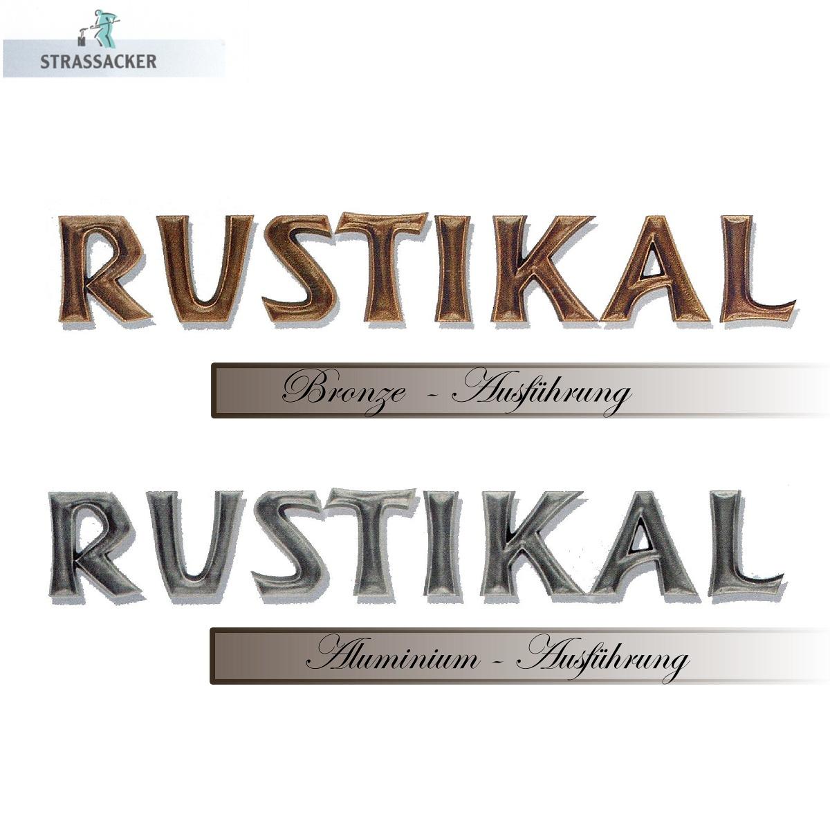 Grabsteinbuchstaben Aus Bronze Und Aluminium Typ Rustikal