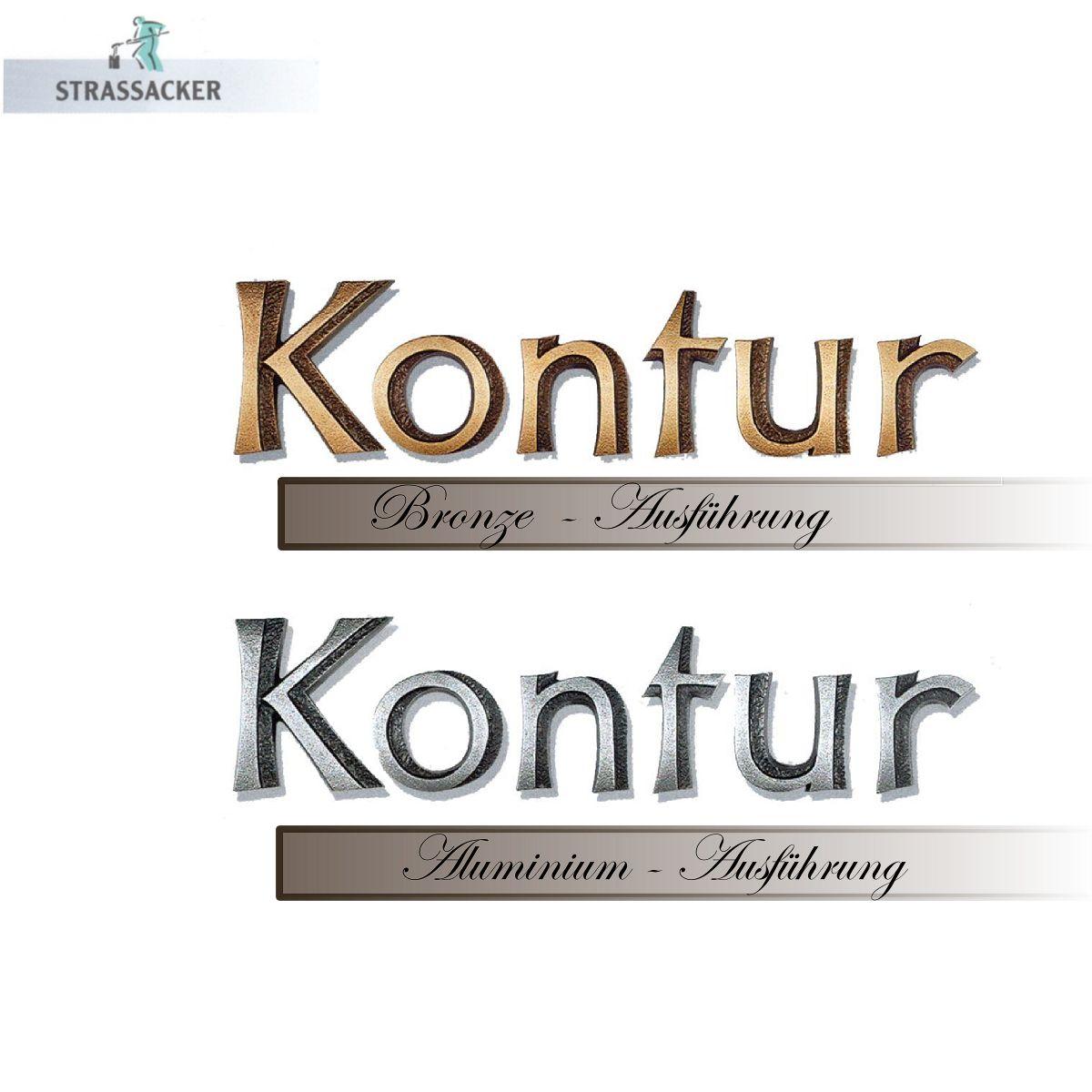 Bronzebuchstaben Für Grabsteine Typ Kontur | Bronzebuchstaben