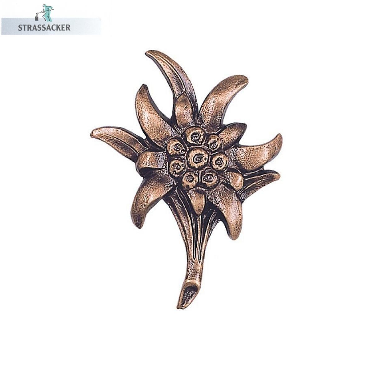 Edelweiß Aus Bronze - Edelweißblüte Für Grabsteine