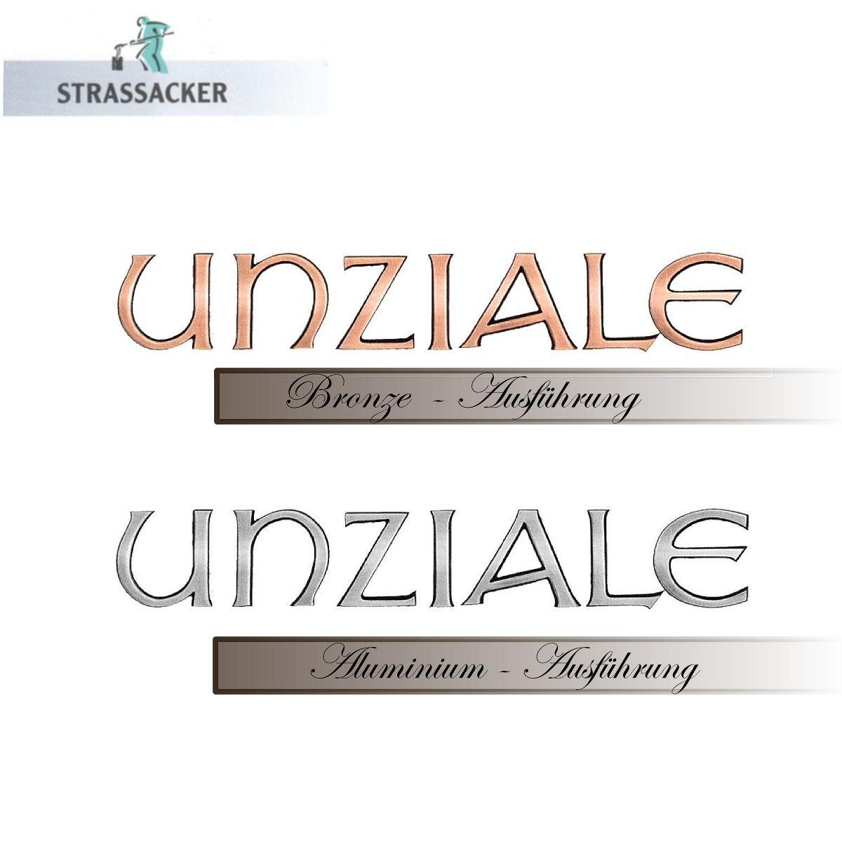 Buchstaben Für Grabsteine Unziale Aus Bronze Und Aluminium