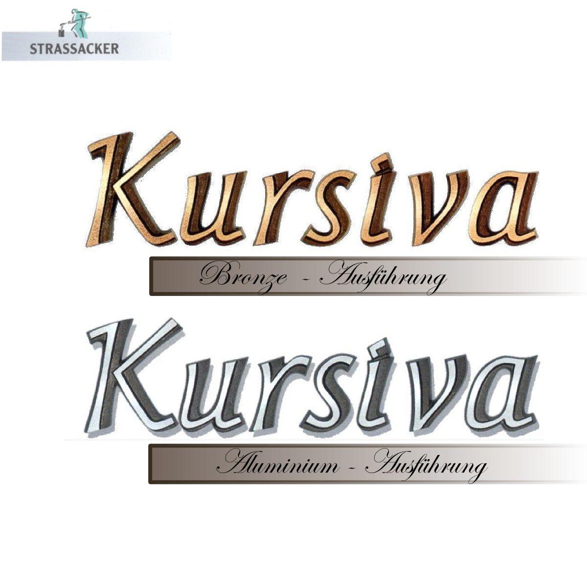 Bronzebuchstaben Und Aluminiumbuchstaben Für Grabsteine Typ Kursiva