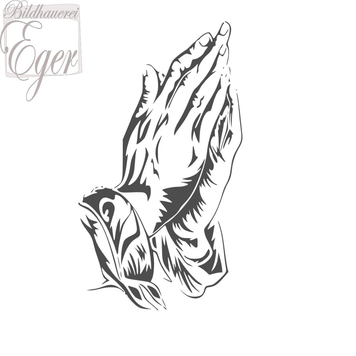 Betende Hände | Steinornamente / Grabornamente | Steinbeschriftung