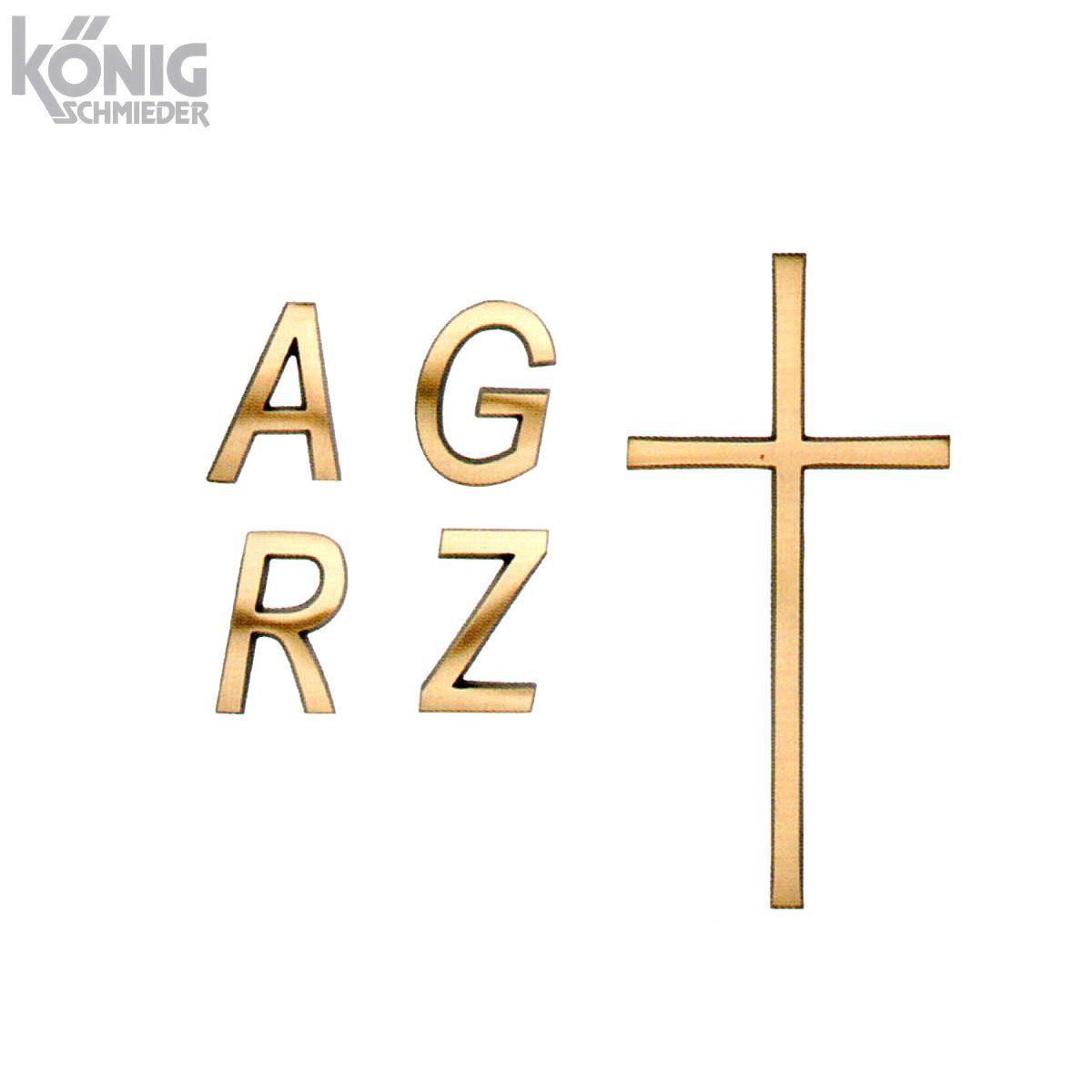 Bronzebuchstaben Und Aluminiumbuchstaben Typ Konvexa