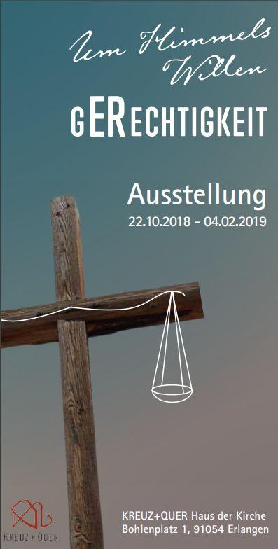 Flyer Ausstellung Gerechtigkeit im K+Q