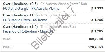 Biletul zilei fotbal COTA 2 (15.09.2016)