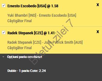 Biletul zilei tenis 13 Ianuarie 2017