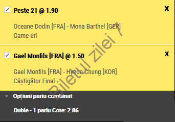 Biletul zilei tenis 03 Mai 2017