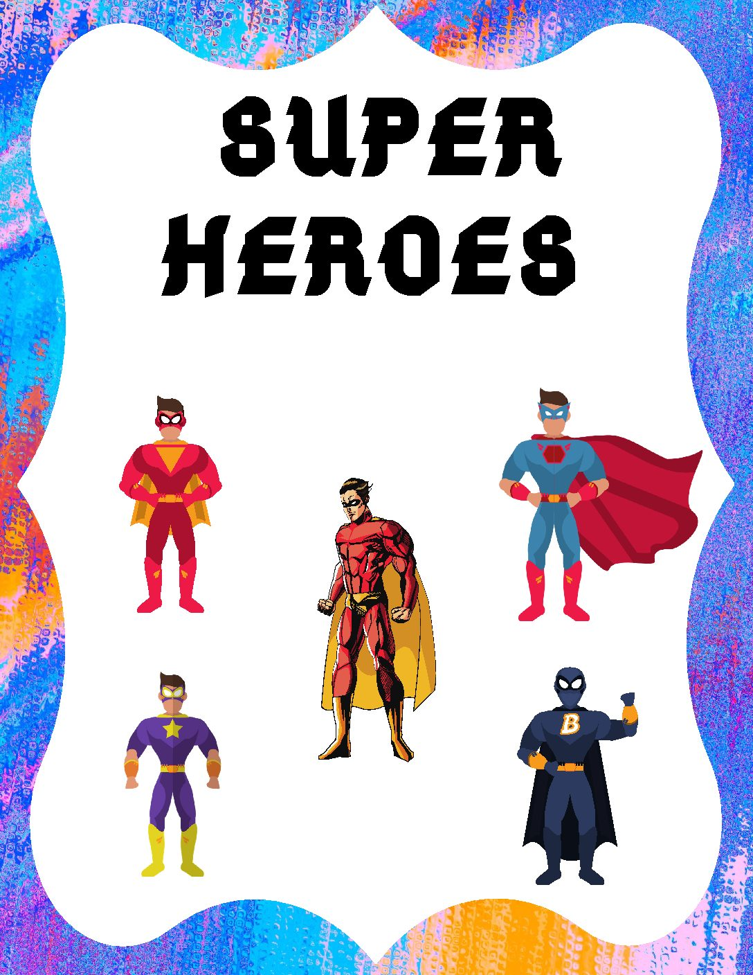 Super Hero Table Signs Distance Learning For Parents And