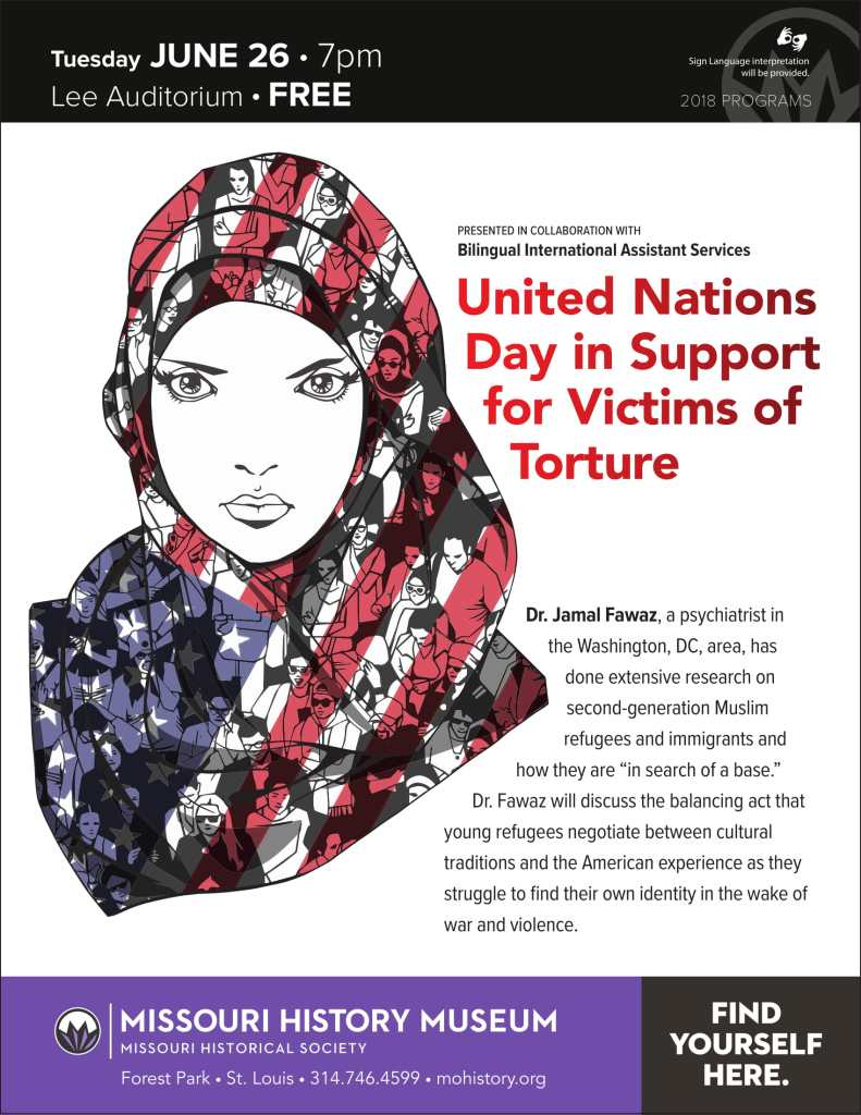 UN Day in Support of Victims of Torture, June 26, with Dr. Jamal Fawaz