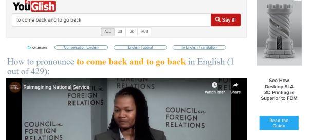 Youglish English pronunciation