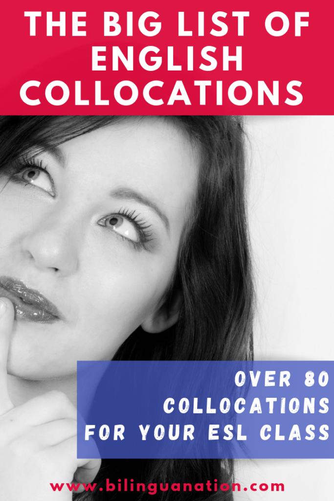 Big list of English collocations