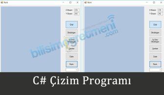 C# Çizim Programı
