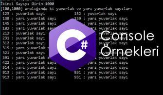 C# Console Örnekleri – Yuvarlak Sayı Bulma