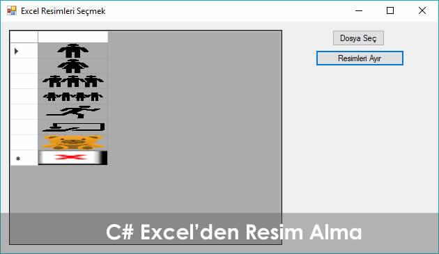 C# Excel Resim Alma ve DataGridView Aktarma