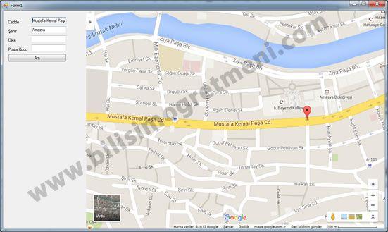 C# Örnekleri – Google Maps Kullanımı
