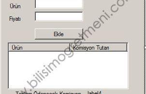 Visual Studio C# Örnekleri – Komisyon Hesaplama Programı
