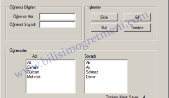 Visual Studio C# Dersleri – Listbox Kullanımı ve Özellikleri 1