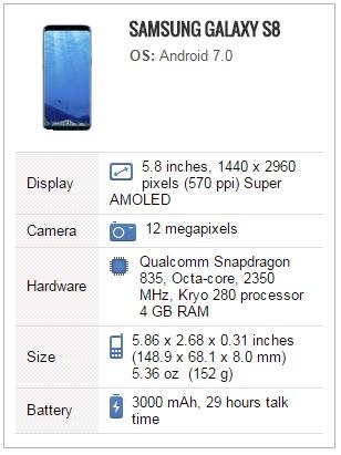 S8 teknik özellikler