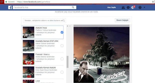 Facebook Profiline Atatürk Imzası Veya Takım Logosu Vb Ekleme
