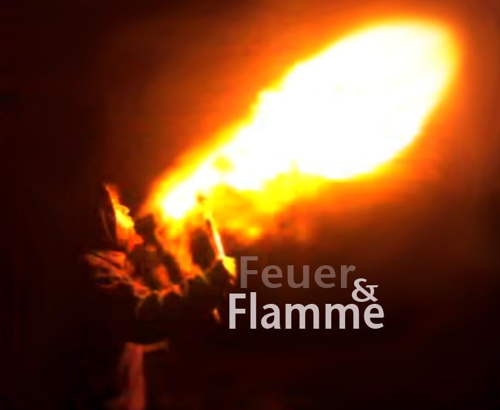 burning flames